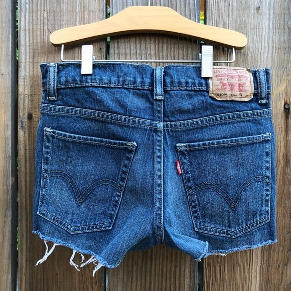 Levi's Pants - Levi's 510 skinny cut off shorts